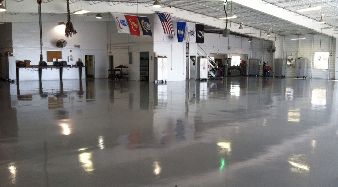 BlackRock Industrial Garage Epoxy Coated Floors