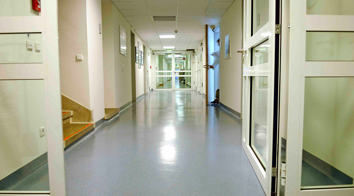 BlackRock Industrial Hospital Hallway Flooring