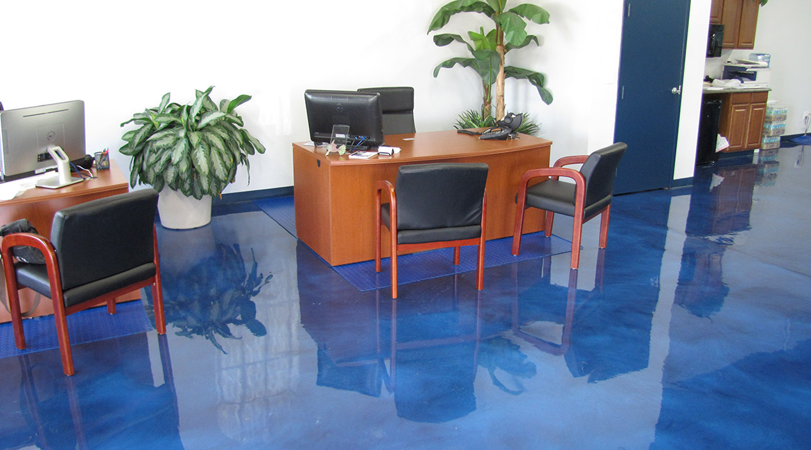 BlackRock Industrial Metallic Office Floor