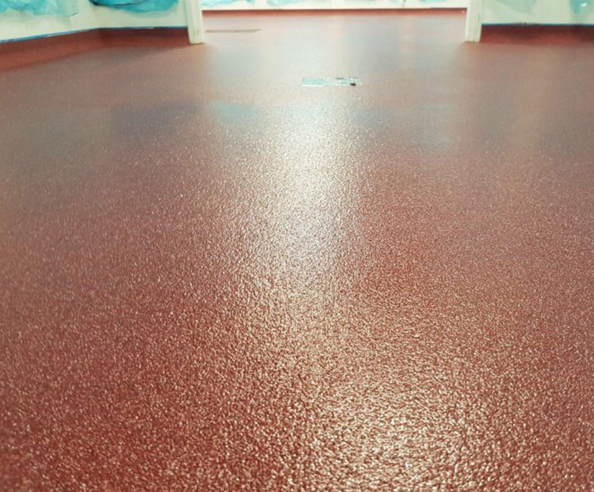 BlackRock Industrial Red Flooring