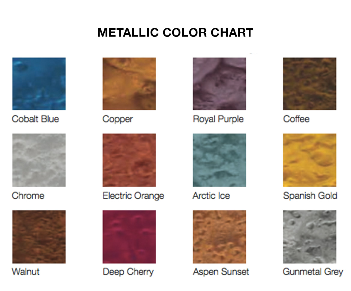 BlackRock Industrial Metallic Color Chart