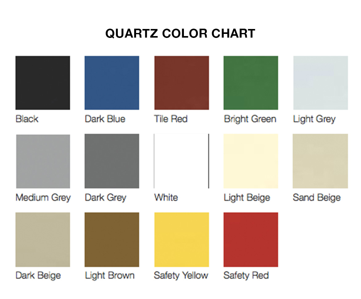 BlackRock Industrial Quartz Color Chart