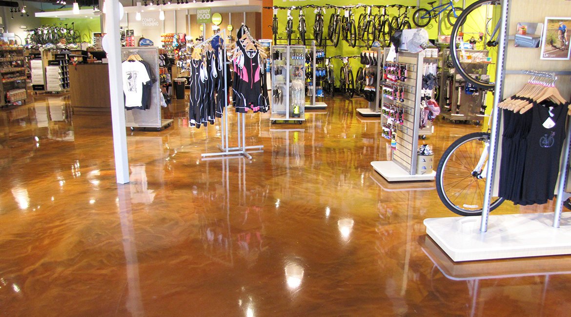 BlackRock Industrial Sports Store Floor