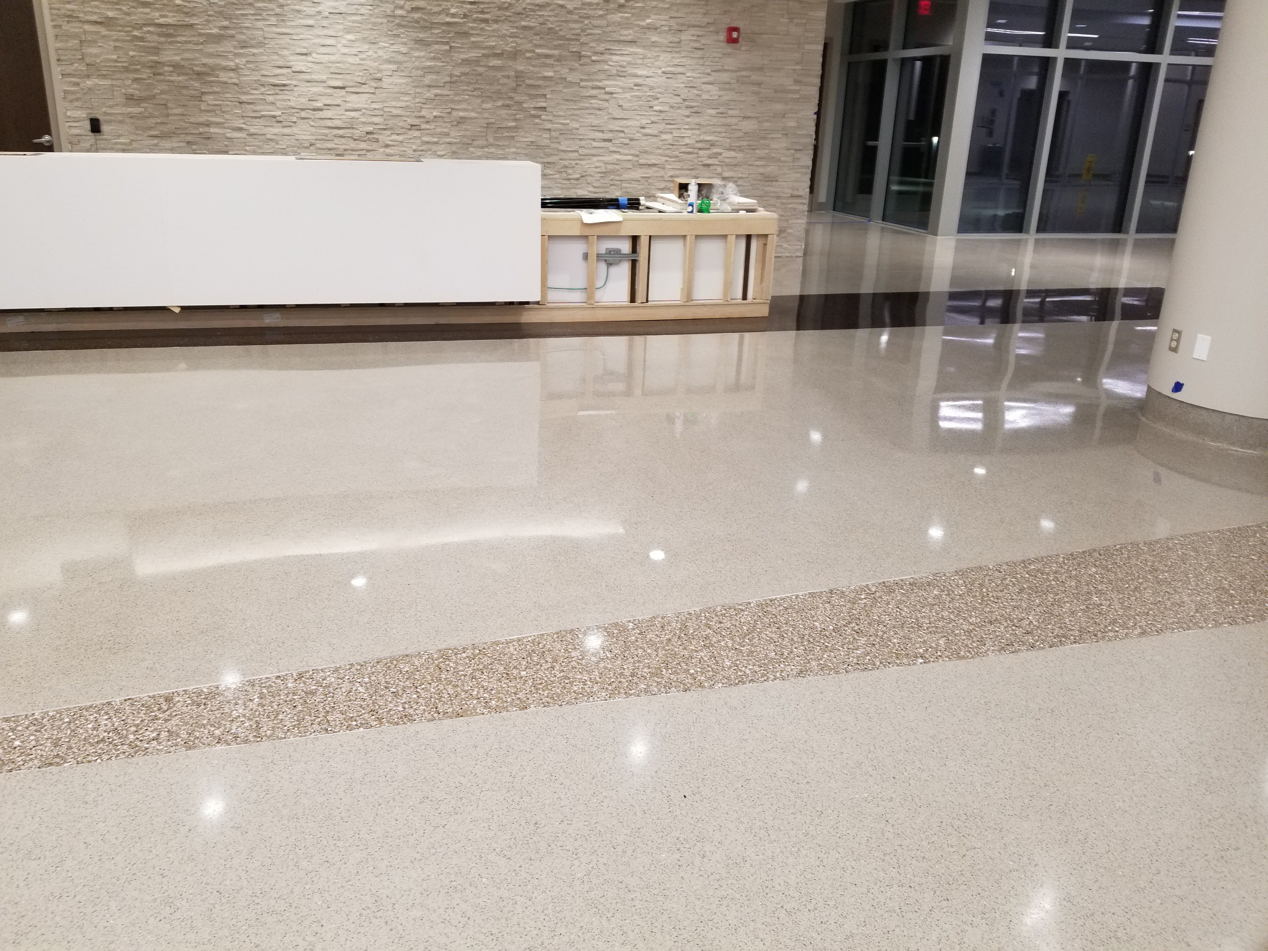 BlackRock Industrial Hospital Lobby Floors