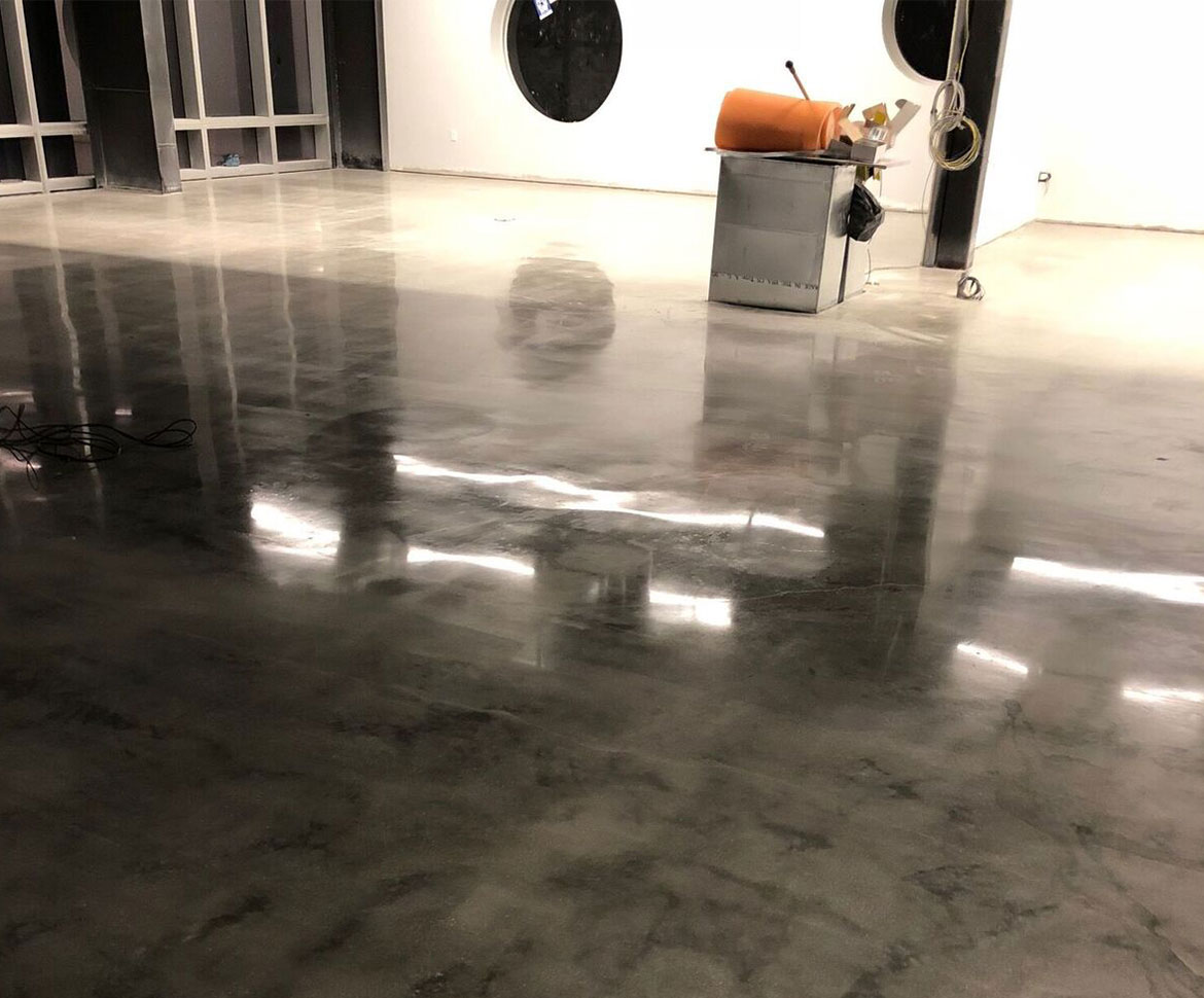 Blackrock office polished floor